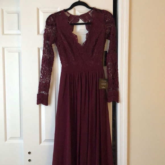 Lulu's Dresses & Skirts - Lulu's Awaken My Love Long Sleeve Lace Maxi Dress